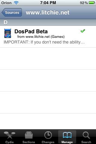DOSPAD - DOSBox port for jailbroken iOS devices - Hardware